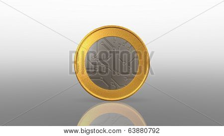 Digital Currency Mix Silver Gold Coin