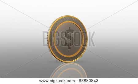 Dollar Currency Coin Mix 45 Degree
