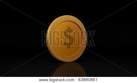 Dollar Currency Gold Coin Exchange Dark 45 Degree
