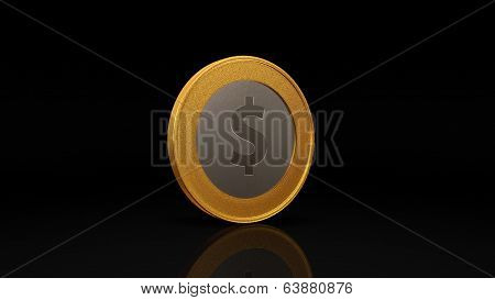 Dollar Currency Gold Silver Coin Exchange Dark 45 Degree