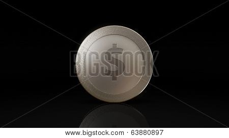 Dollar Currency Silve Coin Exchange Dark