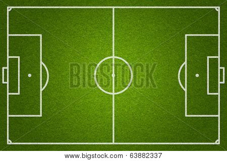 soccer or football field top view