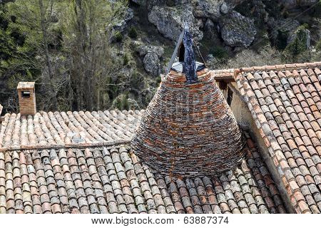 Conical Chimney On A Medieval Tiled