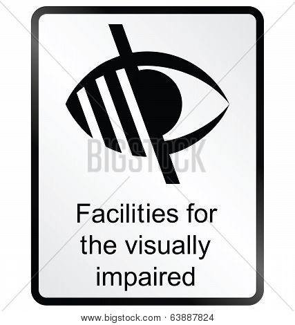Visually Impaired Information Sign
