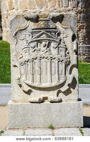Coat Of Arms Belonging To The Walls Of Avila