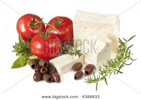 Feta, Tomatoes, Olives And Herbs