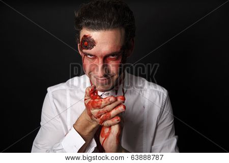 Psychopath With Bloody Hands