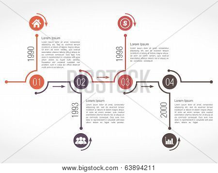 Horizontal Timeline Design Template