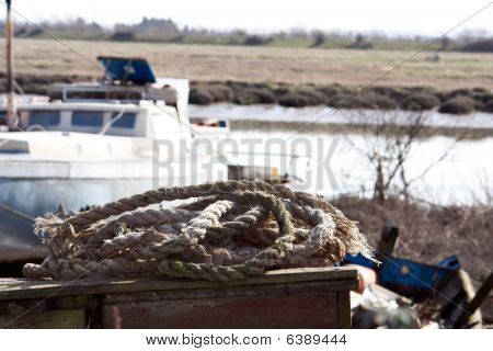 old fishing rope