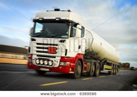 Fuel Truck In Motion