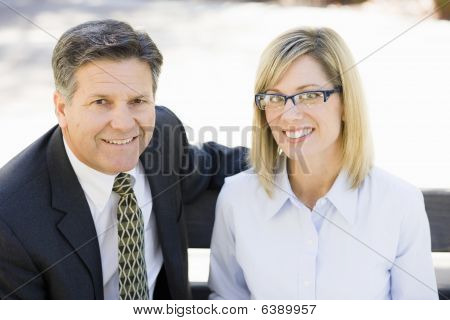 Businesswoman And Businessman