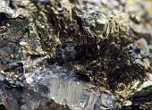 foto of iron pyrite  - Abstract background from a Crystal mineral - JPG