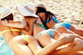 stock photo of sunbathing  - summer holidays and vacation  - JPG