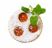 foto of linzer  - Linzer cookie with apricot jam filling - JPG