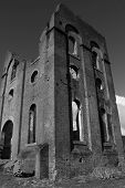 pic of blast-furnace  - Ruins of an old blast furnace in Lithgow NSW - JPG