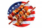 picture of kebab  - Genuine American Chicken - JPG