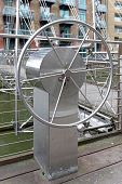 picture of movable  - Steering wheel control for movable footbridge over canal