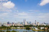 image of petronas twin towers  - Online stock photo image Kuala Lumpur Skyline in Malaysia  - JPG