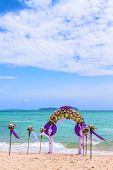 stock photo of wedding arch  - Wedding arch in Phuket Thailand - JPG
