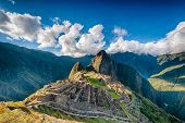 picture of andes  - Machu Picchu an over view above the lost city - JPG