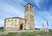 stock photo of templar  - Veracruz medieval church ancient templar church in Segovia Spain - JPG