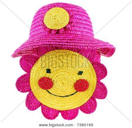 sombrero de paja y bolsa para niño verano