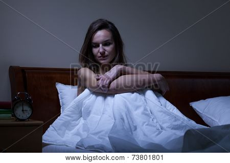Woman Staying Awake At Night