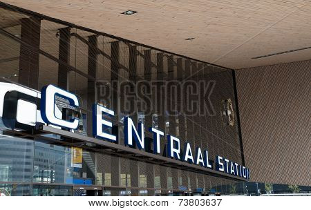 Main Entrance To Rotterdam Central Station, Netherlands