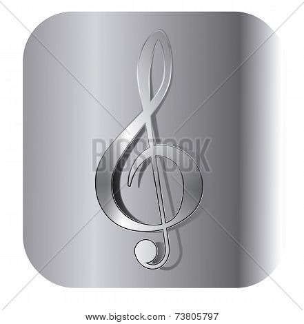 Treble Clef Button