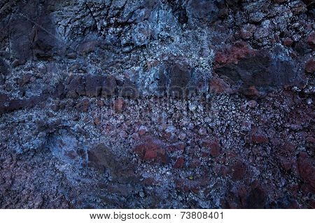 Detail Of Old Crumbling Stone Surface