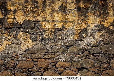 Old Wall, Built Of Rough Brick