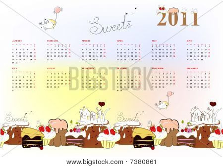 Template for calendar 2011