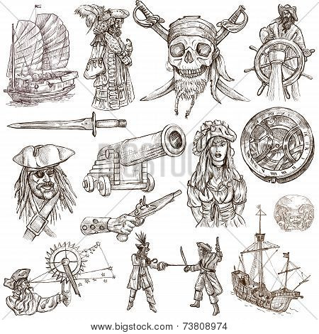 Pirates Hand Drawn Collection