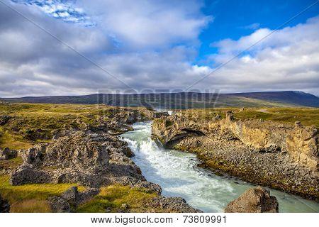 Waterfall Landscape In Iceland2