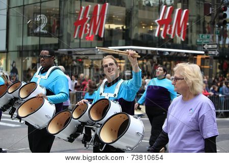 Developmentally disabled marching band