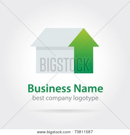 Abstract logotype icon concept isolated on white background for business design. Key ideas is business, abstract, twirl, creative, corporate, design. Concept for corporate identity and branding