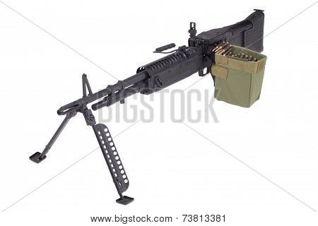 M60 Machine Gun On Position