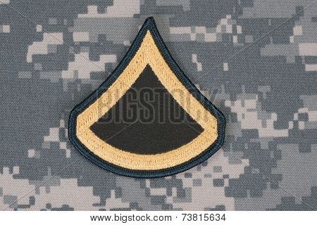 Us Army Uniform Private Rank Patch