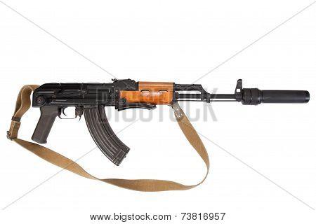 airborn version assault rifle on white background