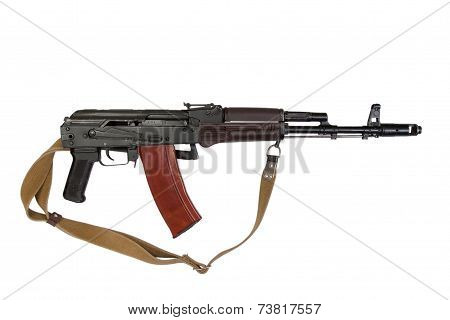 Assault Rifle Aks-74 Para Isolated On A White Background