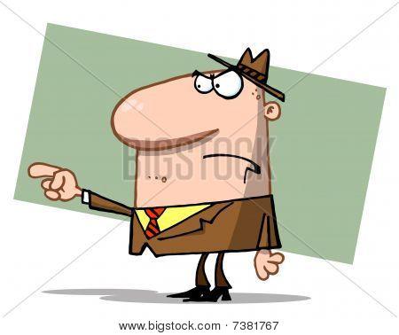 Angry Boss Mann zeigen die Schuld