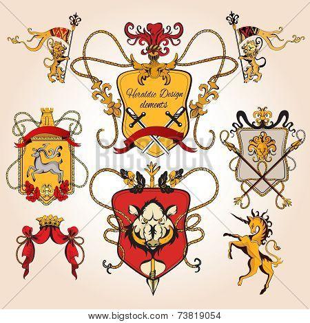 Heraldic design colored