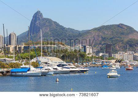 Christ The Redeemer Corcovado Guanabara Bay Boats Yacht, Rio De Janeiro