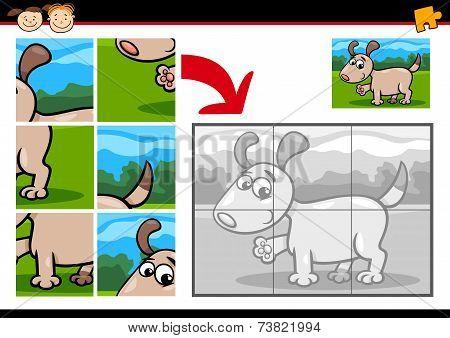 Cartoon Puppy Jigsaw Puzzle Game