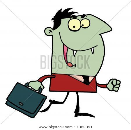 Vampire with briefcase