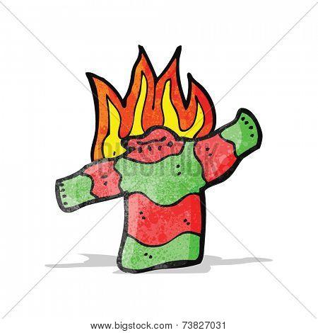 cartoon burning jumper