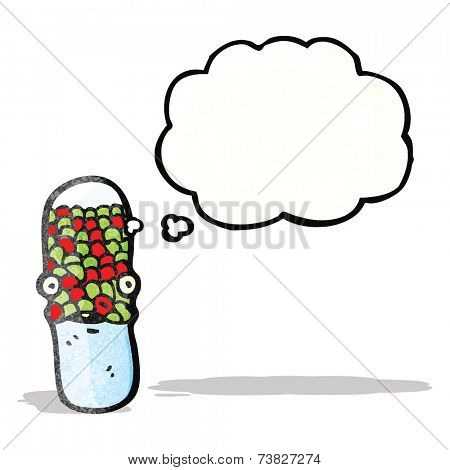 cartoon antibiotic pill character