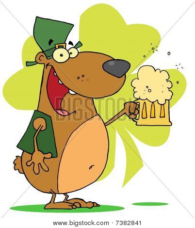 Happy St Patrick's Day Bear