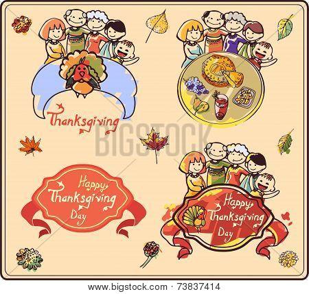 Family on Thanksgiving