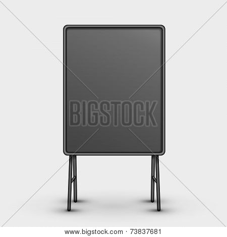 Black Metal Sandwich Board